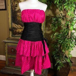 Vintage Positively Ellyn 80's Polka Dot Dress Sz 8